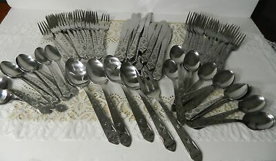 70 PC SERVICE FOR 12 + International PUEBLO Southwest Stainless Flatware KOREA