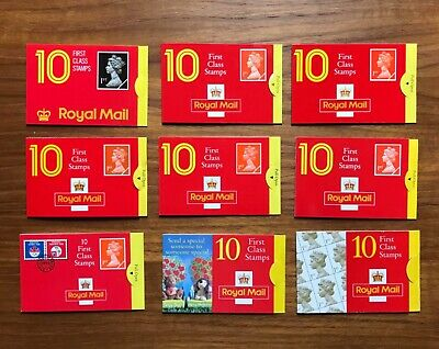 Gb F/V £63 For Postage Full Gum Mnh 90 X 1St First Class Stamps 9 Booklets Of 10