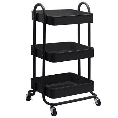 NEW Bourdain 3 Tier Kitchen Trolley - DwellHome,Drinks Trolleys & Serving Carts