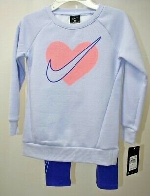 Nike Girls Sweat Shirts & Legging 2 Pcs Sets Outfit Sz 6 M New With Tag