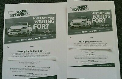 60 Min (1hr) Nationwide Young Driver Lesson Gift Experience Voucher (2x 30 mins)