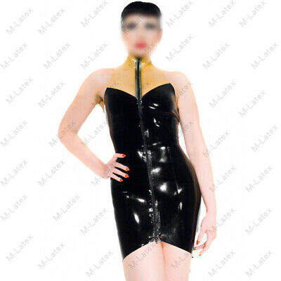 903 Latex Rubber Gummi fish tail Skirt Dress One-piece bow customized sexy 0.4mm