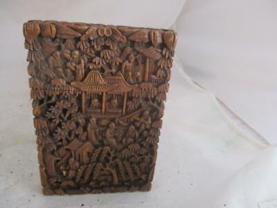19Th Century Chinese Carved Sandalwood Card Case