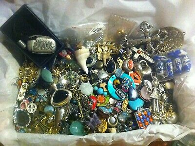 Vintage - Now Estate Find Jewelry Lot All Pendants/Charms Junk Drawer Unsearched
