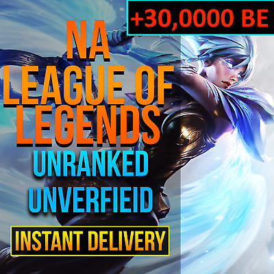 NA 30K BE League Of Legends Account LOL Smurf 30,000 BE IP Unranked Level 30+