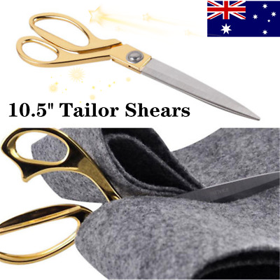 10.5'' Gold Cutting Fabric Leather Raw Materials Trimming SewingTailor Scissors