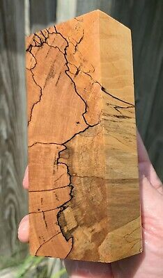 Stabilized Black line Spalted Maple Knife Block.   5.14 x 2.15 x 1.36   (1917)