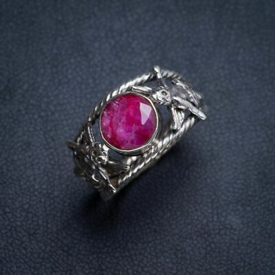 Cherry Ruby 925 Sterling Silver Ring 7.25 Y4725