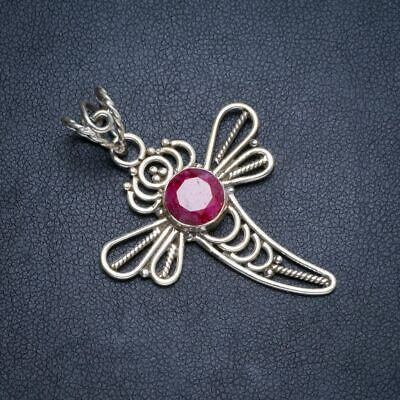 """Cherry Ruby 925 Sterling Silver Pendant1.75"""" Y5278"""