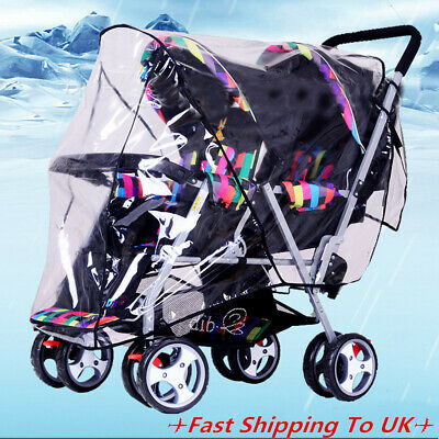 Universal Pushchair Buggy Rain Cover  Baby Transparent Stroller Pram Wind