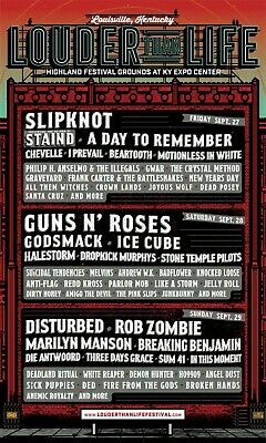 3-DAY GA Louder Than Life Tickets - General Admission Weekend Wristbands 1,2