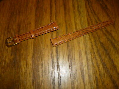 LADIES TAN LEATHER WATCH STRAP 13mm LUGS ROLEX OMEGA  ..