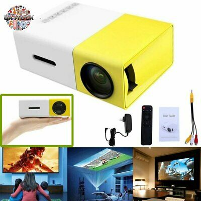 Mini Pocket YG300 3D Projector LED Home Theater Cinema HD 1080p USB HDMI UK 2019