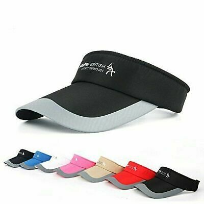 Fashion Adjustable Tennis Sports Cap Sun Visor Golf Cap Headband Hat Vizor Sy