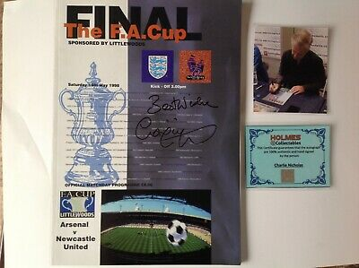 Arsenal - Legend Charlie Nicholas Hand Signed with COA & Photo - FA Cup 1998