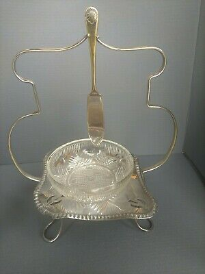Vintage Silver Plated Butter Dish Set