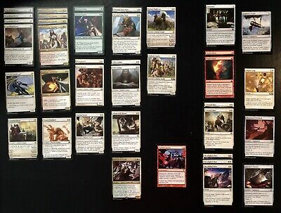 MTG Deck: WRG Humans 60 Card Deck Plus Sideboard. Incl 1 Rare, 31 Uncommon. NM/M