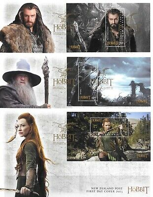 New Zealand 2013 The Hobbit The Desolation of Smaug Set of Miniature Sheet FDC's