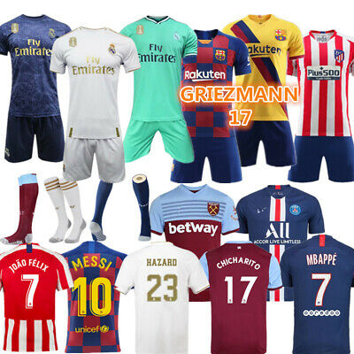 Custom Youth Football Kit Kids Boys Soccer Training Jerseys Suit Sports Outfit