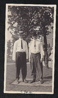Antique Vintage Photograph Two Men in Cool Outfits & Wonderful Old Hats