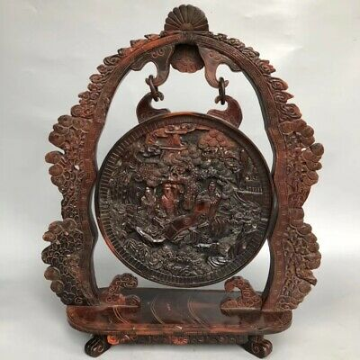 China ancient horns screen statues folk collection  99 0003