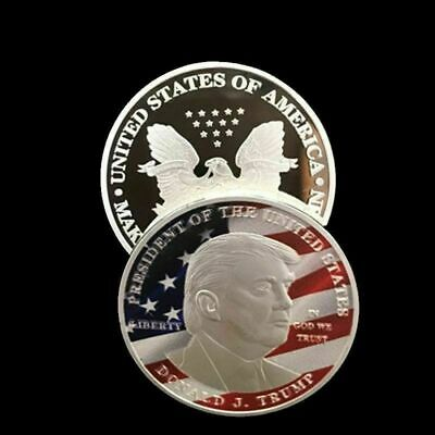 USA Flag Old Glory Coin Patriotic gift 2019 American Eagle Silver Dollar 1 oz