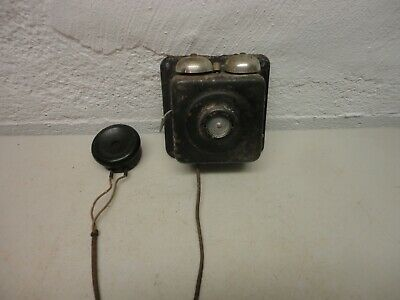 Antique Metal Wall Phone for Parts Non-Working