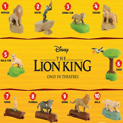 2019 McDonald's THE LION KING Happy Meal Toys Choose Your Toys