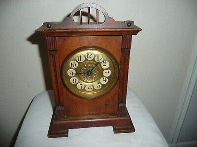 Antique, HAC Alarm Mantle Clock, Sold For Restoration, V G Cosmetic Condition.