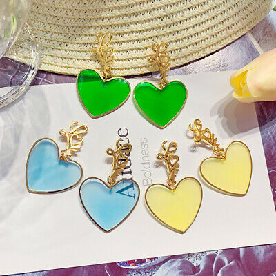 Fashion Statement Metal Geometric For Women Boho Ear Stud Heart Earrings Modern