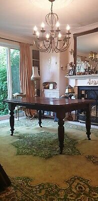 Victorian wind-out Table + Leaf No Key Project For Restoration Collection Only