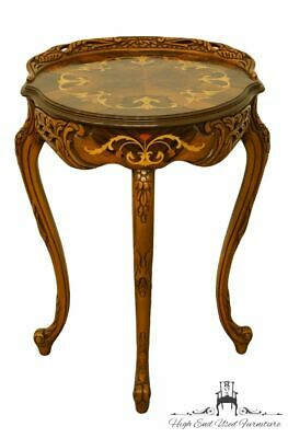 1940's Vintage Antique Louis XVI French Walnut Accent Table w. Ornate Carving...