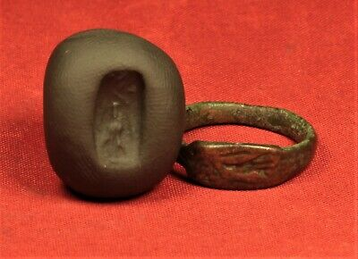 Ancient Hellenistic Seal Ring, Finger Ring, 800 B.C. - Ancient Greek