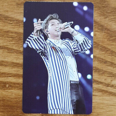 RM Official Photocard BTS Love Yourself World Tour New York Blu-ray Kpop