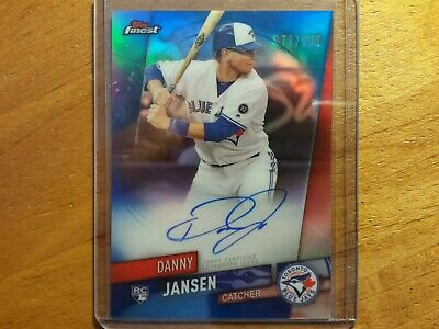 Danny Jansen Blue Jays 2019 Topps Finest Blue Refractor Auto Rc Rookie #72/150 !
