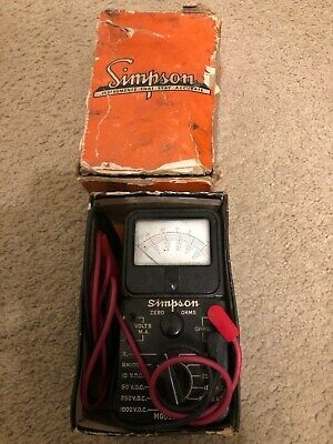 Vintage Bakeite Simpson Model 230 Volt-Ohm-Milliammeter Leather Case Working