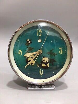 Chinese During the Cultural Revolution panda Mechanical watch Clock Tables