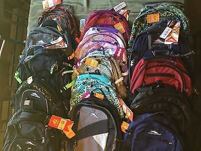 High Sierra Hiking Book Back Pack Backpack Black Navy Pastel New Tags