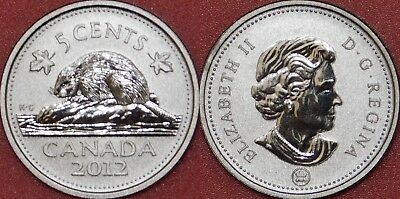Specimen 2012 Canada 5 Cents From Mint's Set