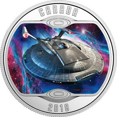 Canada - 2018 'Star Trek Enterprise NX-01' Colorized Proof $10 Silver Coin