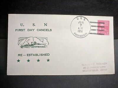 USS RUCHAMKIN APD-89 Naval Cover 1951 FIRST DAY Cachet