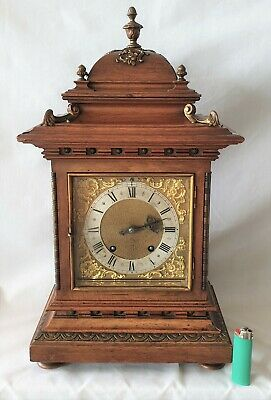 Lenzkirch Style Mantel Clock Quarter Strike (petite Sonnerie)  Mueller & Co