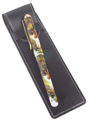 Akita and Shiba Inu Breed of Dog Themed Pen with Pen Case