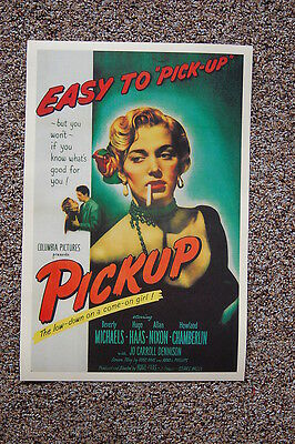 Pickup The Low-Down on a come-on Girl Lobby Card Movie PosterBeverly Michaels