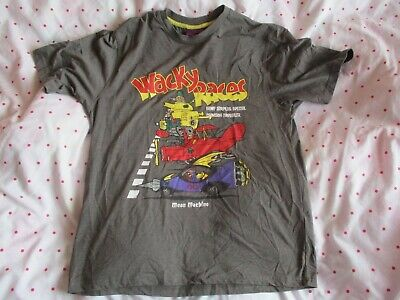grey wacky races dick dastardly muttley PICTURE T SHIRT top mens Size small