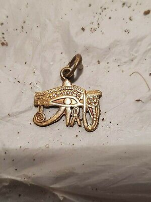 Rare Antique Ancient Egyptian Amulet Protection Eye Horus Snack Cobra1840-1750BC