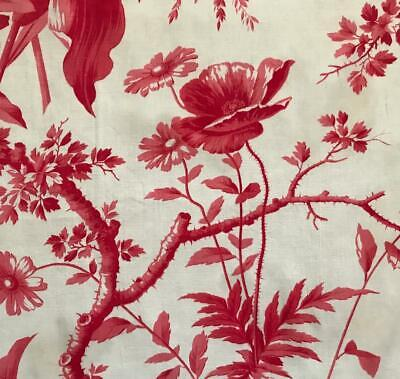 Beautiful 19Th Century French Toile De Jouy, Poppies & Florals 314.