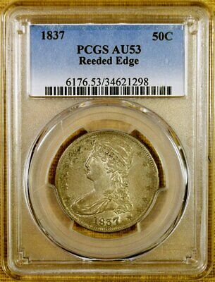 1837 PCGS AU53 Reeded Edge Bust Half Dollar (#2)