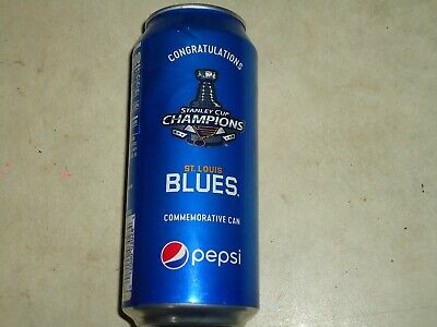 2019 St Louis Blues  STANLEY CUP CHAMP Pepsi Commemorative 16oz Can LIMITED Ful