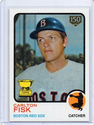 2019 Topps Series 2 Iconic Card Reprints 150th Anniversary Carlton Fisk /150
